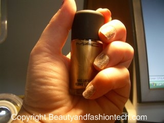 M.A.C. Cosmetics Antiquitease Nail Polish Gold and White Look