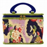 Cris Notti Green Kimono Toiletry Case
