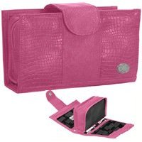 Pink Cris Notti Makeup Bag Windows Holiday