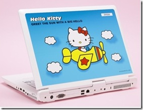 Hello Kitty Blue Laptop airplane