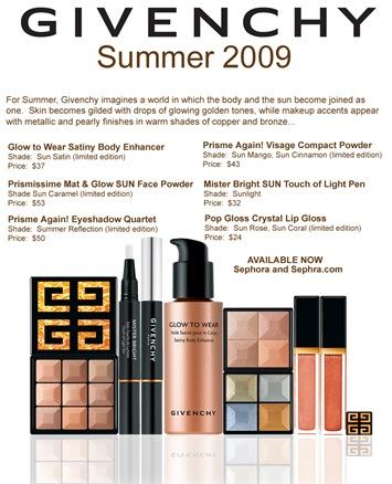 Givenchy Makeup Summer 2009