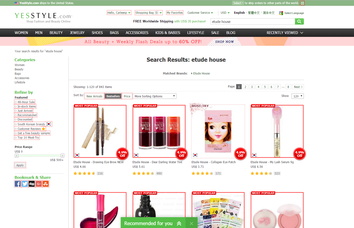How to find Etude House in the USA