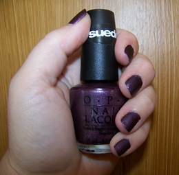 OPI Suede Lincoln Park After Dark Swatch