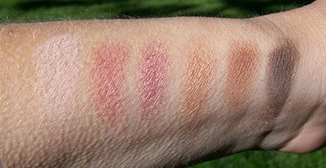 Lancome eyeshadow pink party prety swatches