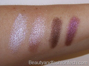MAC surf baby pigment swatches