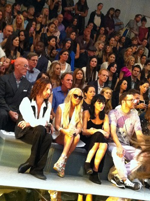 Lindsay Lohan at Cynthia Rowley Fashion Week