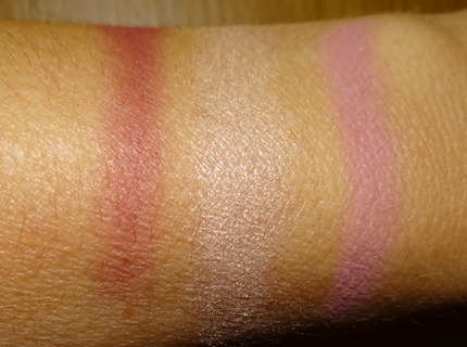 Daphne Guinness for MAC blush swatches