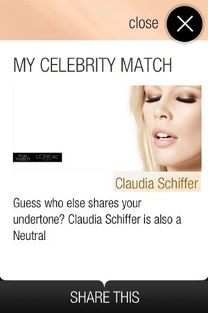 Claudia Schiffer True Match