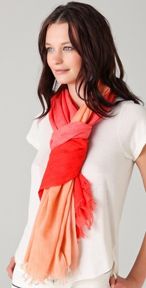Madewell Victory scarf tangerine