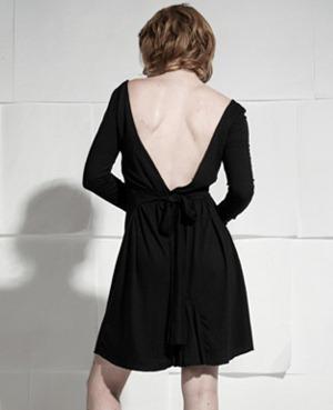 drop back black  dress