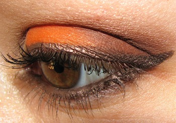 Make Up Forever Orange Eye Swatch