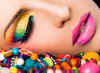 candy color makeup