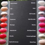 MAC Nail Lacquers Swatches