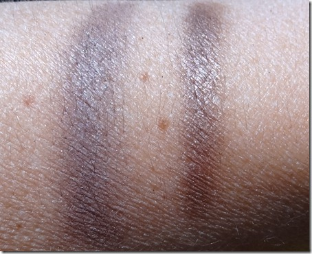 MAC Satin Taupe and NARS Lhasa Swatches
