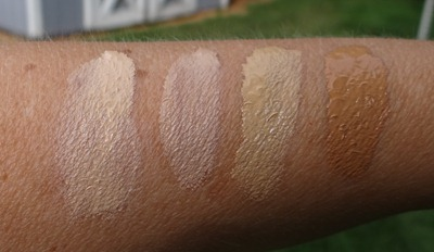 Urban Decay Naked Skin Swatches