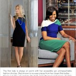Get Michele Obama's Color-Blocked Dress Look With Cable & Gauge