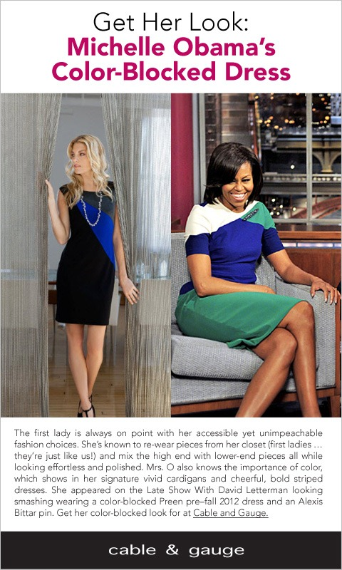Michele Obama Color Block Dress