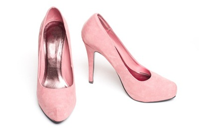 pink suade pumps