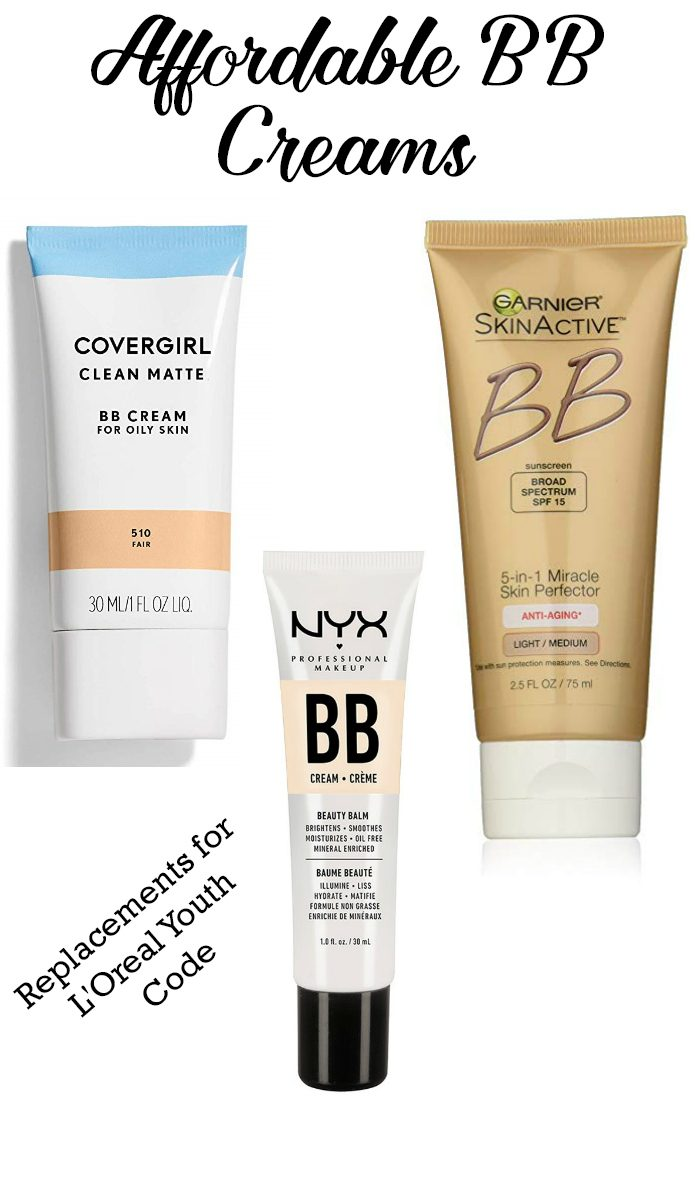 Replacements for Discontinued L'Oreal Youth Code BB Cream. These budget BB creams are affordable options.#beauty #bbcream #LOreal