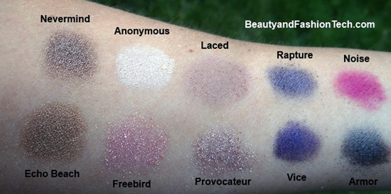 Urban Decay Vice Palette Swatches