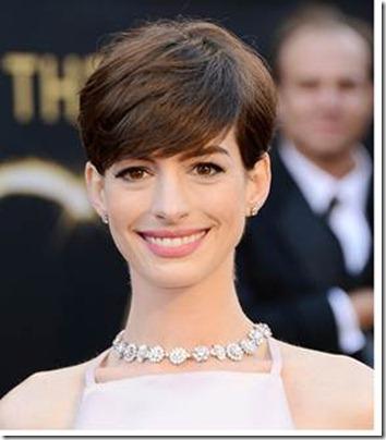 Ann Hathaway Oscars hair