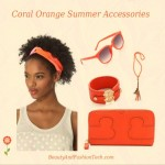 Coral Orange Summer Accessories