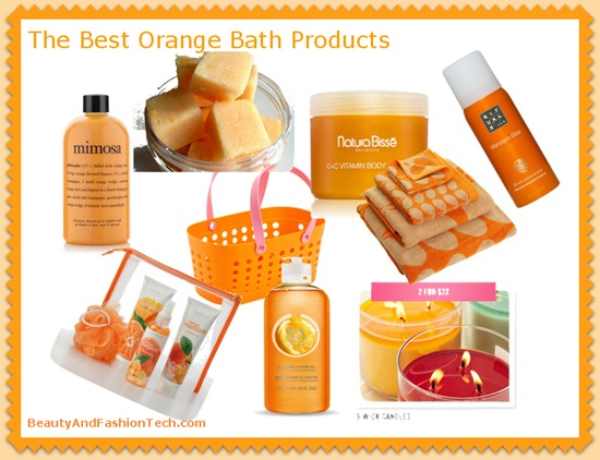 Orange Bath and Shower Products