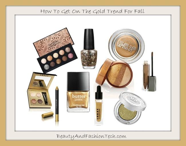 Fall 2013 Gold Makeup Trend