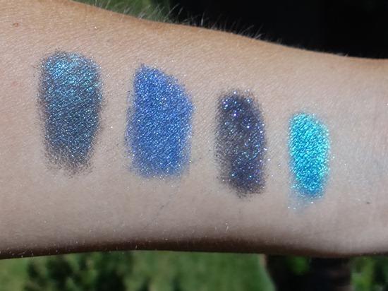 Fyrinnae Blue Shadow Swatches