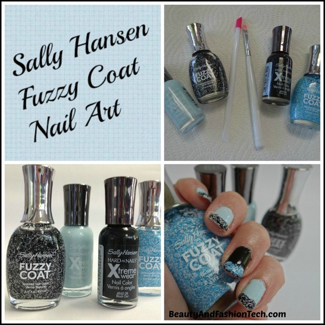 Sally Hansen Fuzzy Coat Nail Art Tutorial #shop