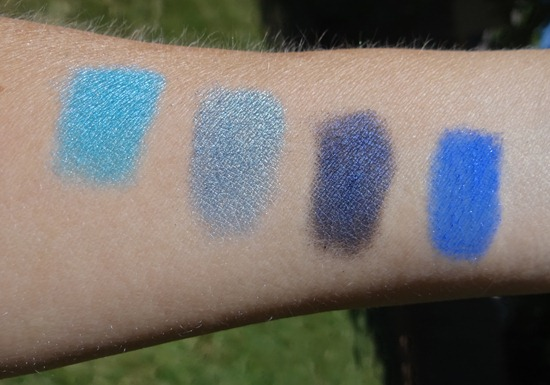 Urban Decay Blue Shadow Swatches
