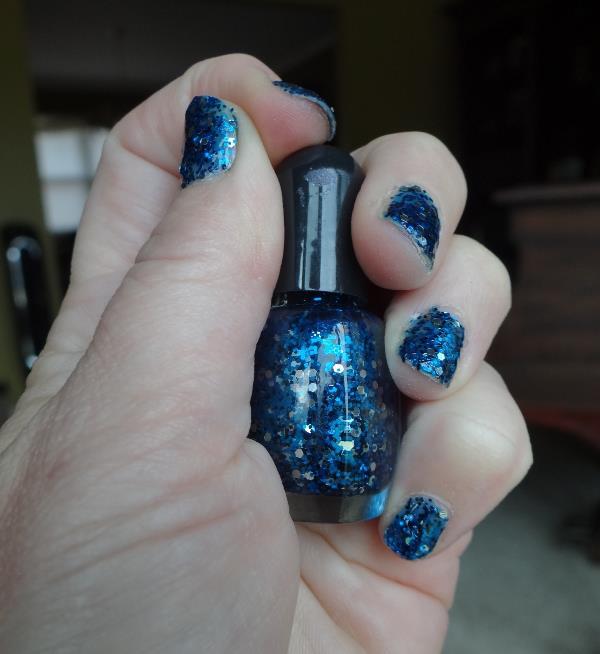 Blue Nail Glitter
