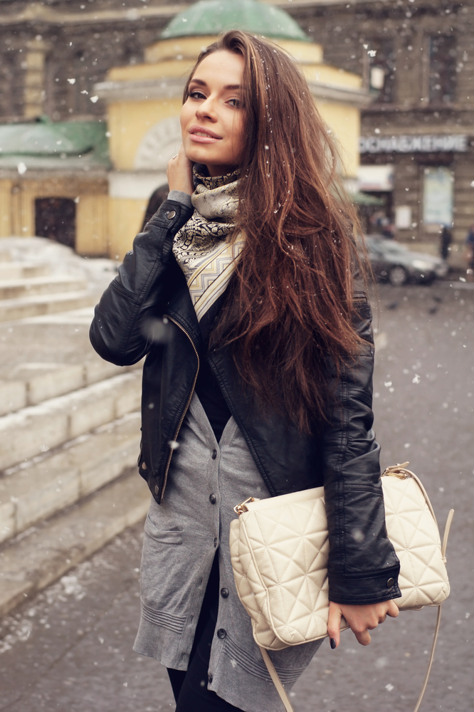 Classic white handbag
