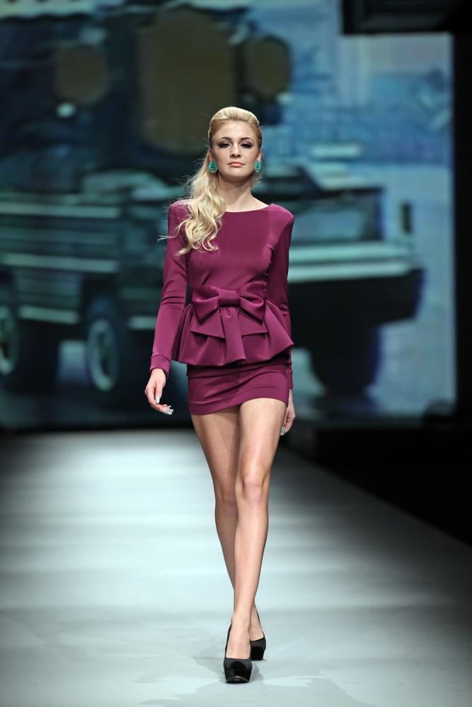 Purple Peplum Dress