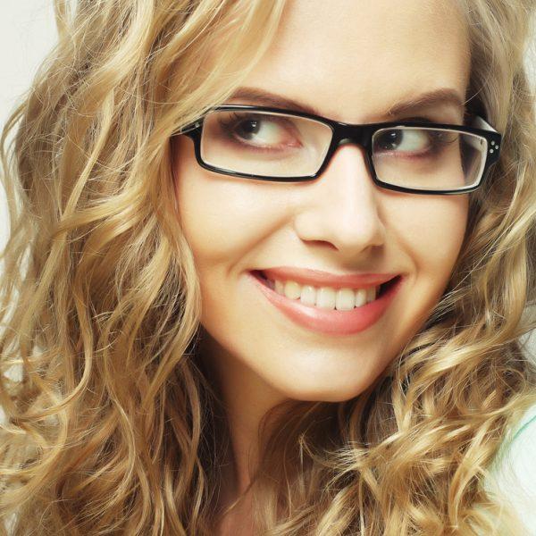 Trendy black frame glasses