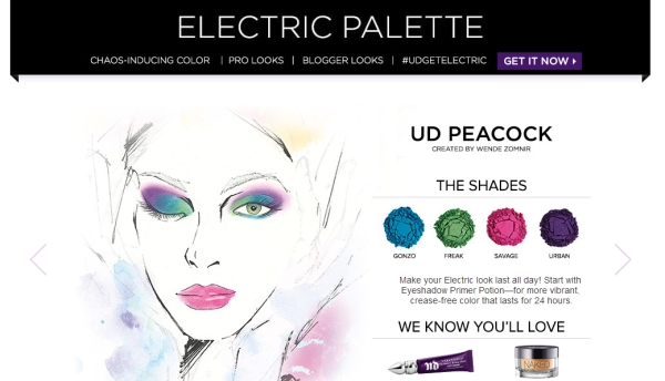 Urban decay electric palette looks