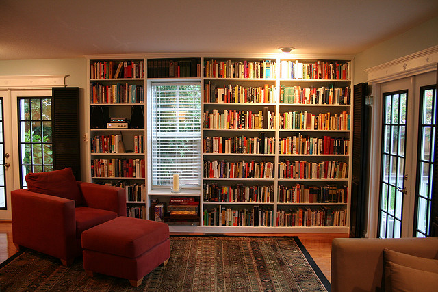 living room book shelves