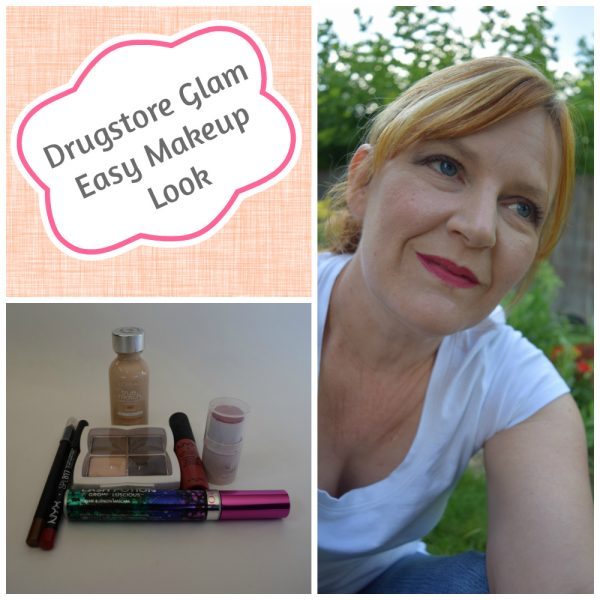 drugstore glam makeup look