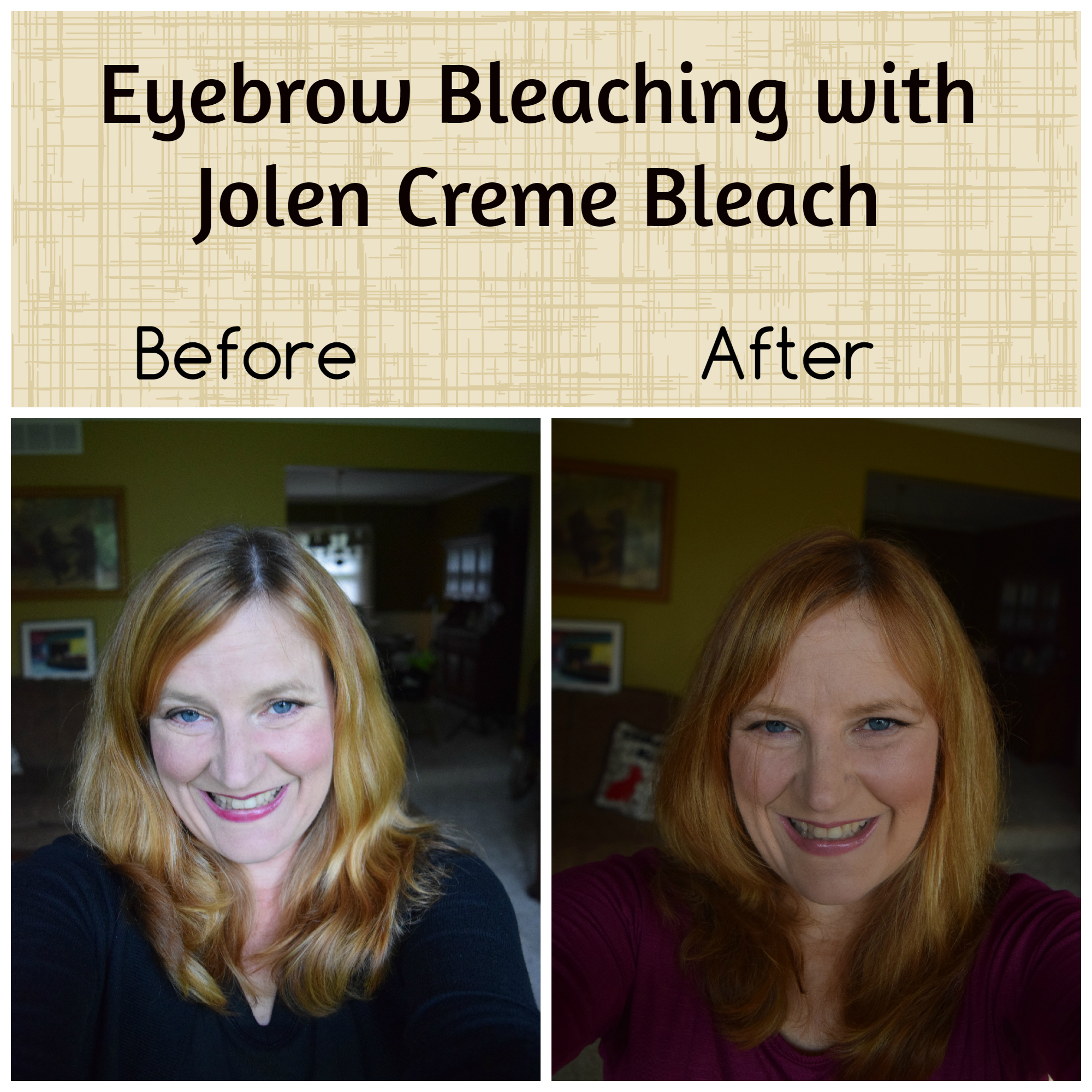 Eyebrow bleaching before and after photos