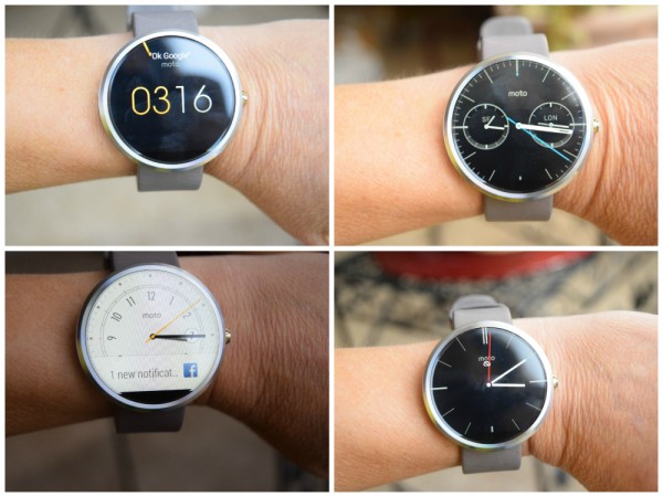 moto 360 screen options