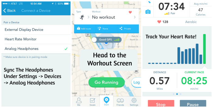 How to Synch SMS Biosport Headphones with RunKeeper App