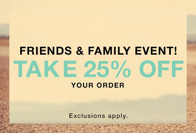 shopbop family and friends sale