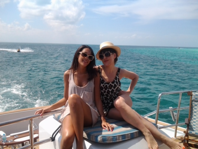 Loving summer on the Mexican Rivera with my friend Julia.