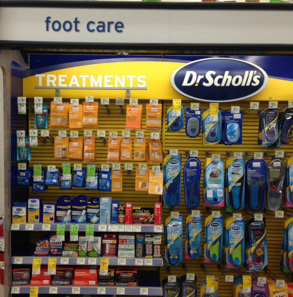 walgreens foot care section