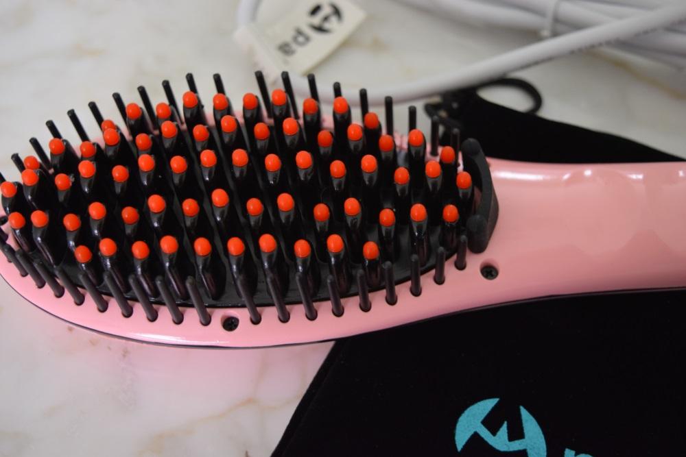 apalus heated hair straightening brush