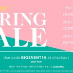 ShopBop Big Event Spring Sale