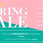 ShopBop Big Event Spring Sale