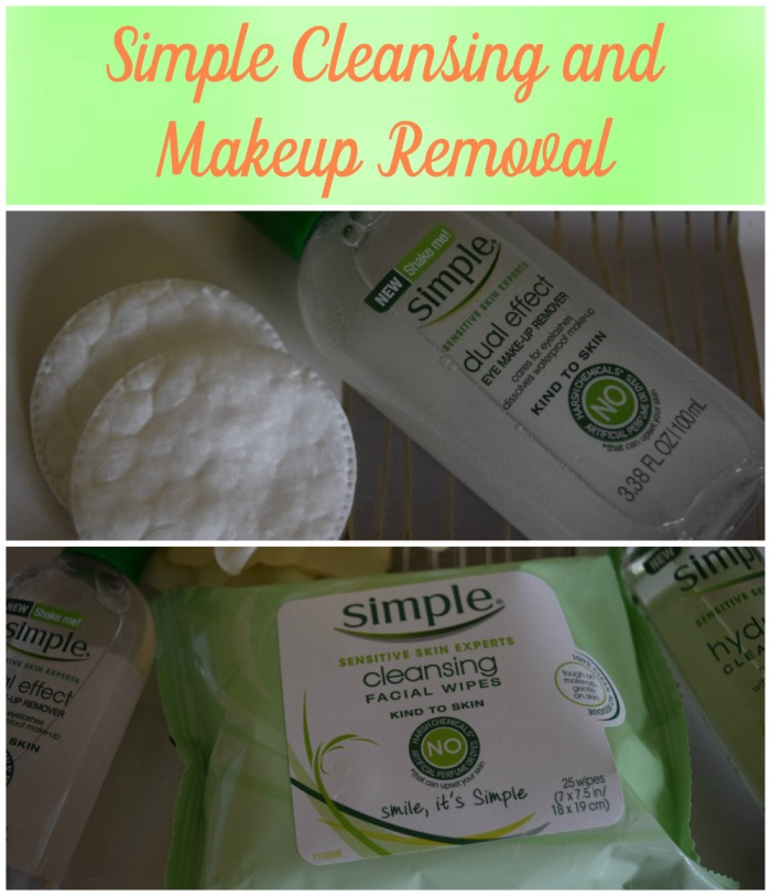 simple cleansing and makeup removal