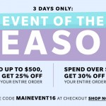 Big ShopBop Sale! Three Days Only!