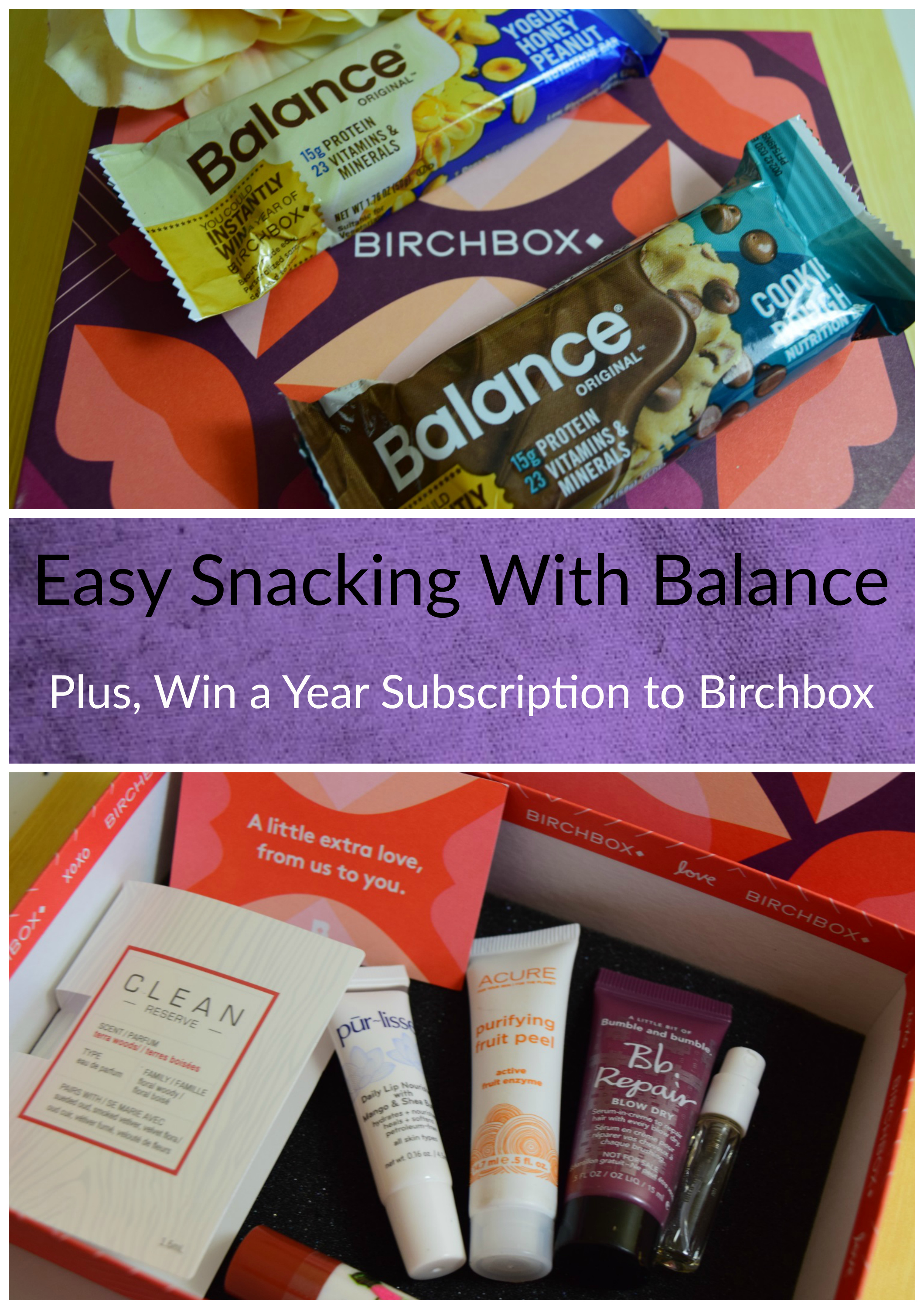 Easy Fitness Fuel with Balance and a Birchbox Sweepstakes
